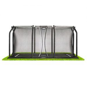 Salta trampolin med net - Royal Baseground Inground - 214 x 305 cm