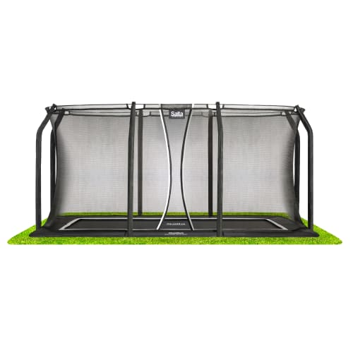 Salta trampolin med net - Royal Baseground Inground - 244 x 396 cm